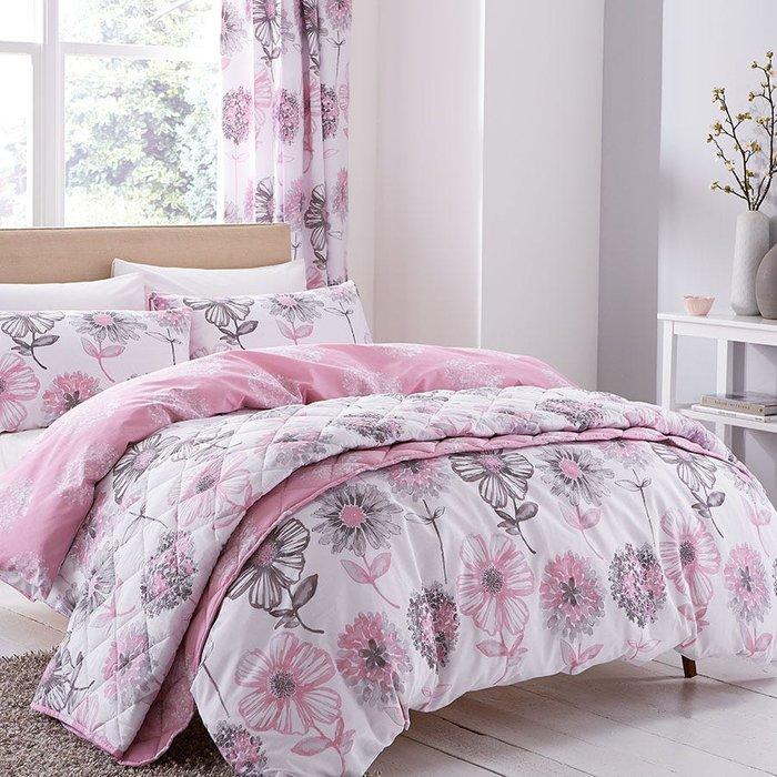 Catherine Lansfield Catherine Lansfield Banbury Floral Single Duvet Set - Pink