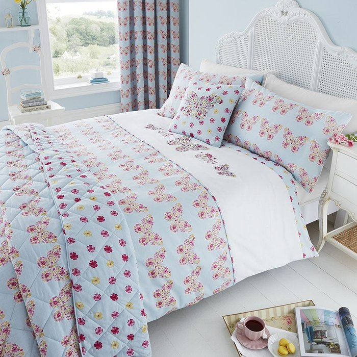 Catherine Lansfield Catherine Lansfield Embroidered Butterfly Bed Set