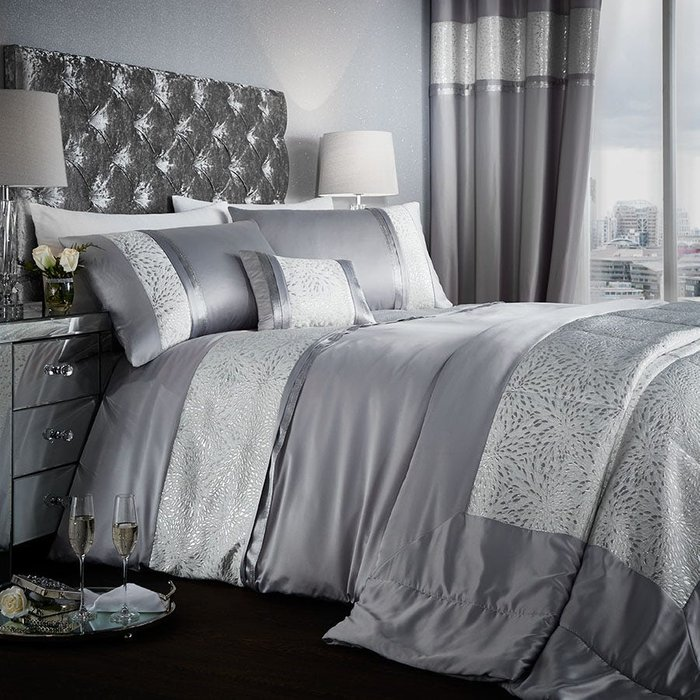 Catherine Lansfield Catherine Lansfield Luxor Jacquard Silver Bed Set