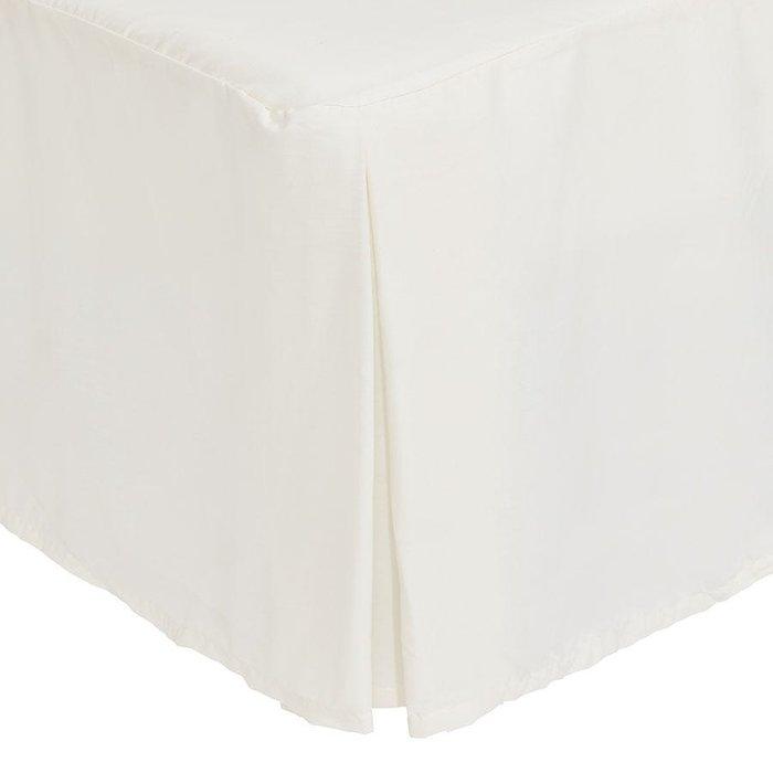 Catherine Lansfield Catherine Lansfield Cream Non-Iron Plain Dye Pleated Platform Valance Sheet