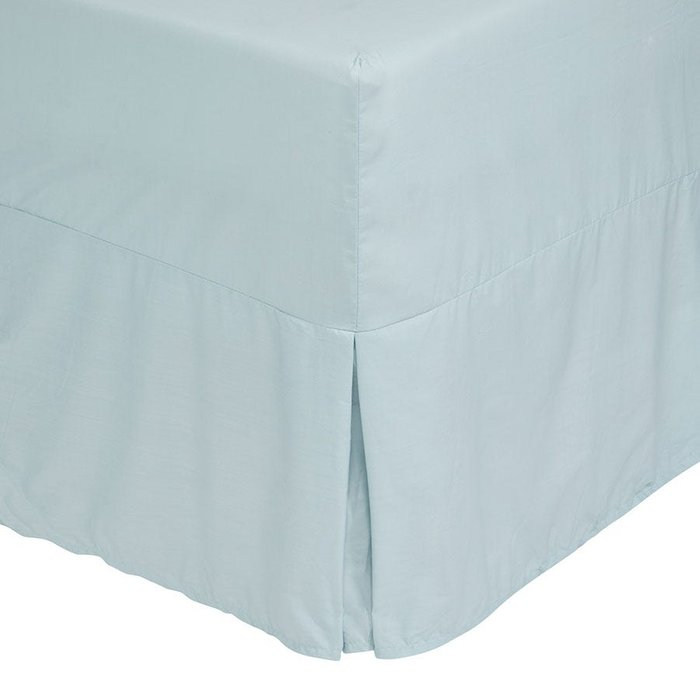 Catherine Lansfield Catherine Lansfield Duck Egg Non-Iron Plain Dye Pleated Fitted Valance Sheet