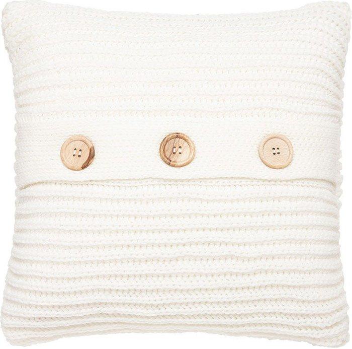 Catherine Lansfield Catherine Lansfield Chunky Knit Cushion - Polar White
