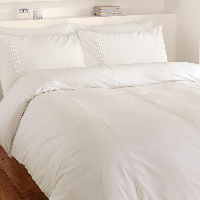 Catherine Lansfield Catherine Lansfield Cream Minimalist Bed Set