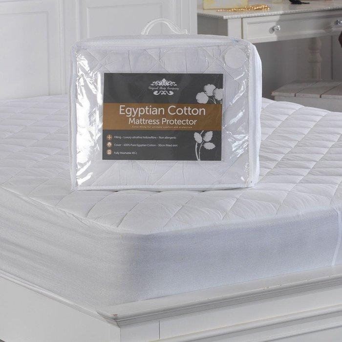 Lancashire Textiles Lancashire Textiles Egyptian Cotton Quilted Mattress Protector - Double