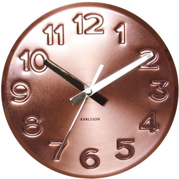 Karlsson Karlsson Engraved Wall Clock - Copper
