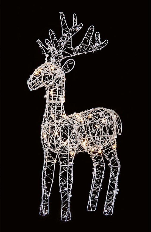 Premier Decorations Premier Decorations Ltd Wire Reindeer with 30 LEDs - 45cm