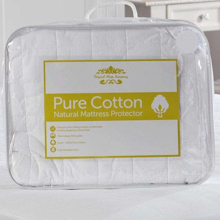 Lancashire Textiles Lancashire Textiles Pure Cotton Quilted Mattress Protector - Double