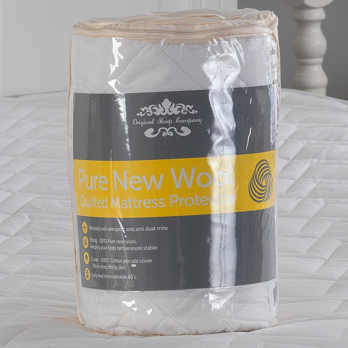 Lancashire Textiles Lancashire Textiles Wool Mattress Protector - King