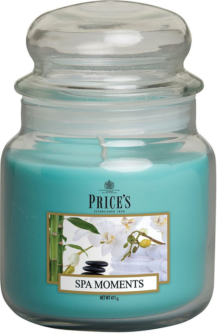 Price's Candles Price's Candles Price's Medium Scented Candle Jar - Spa Moments