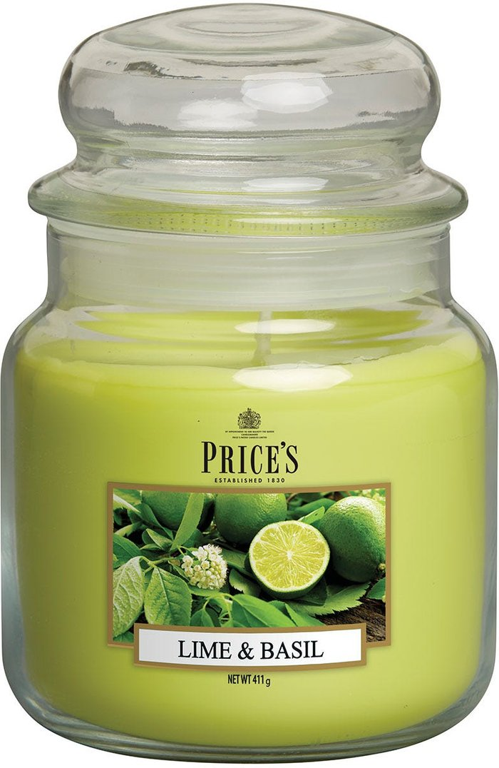 Price's Candles Price's Candles Price's Medium Scented Candle Jar - Lime & Basil
