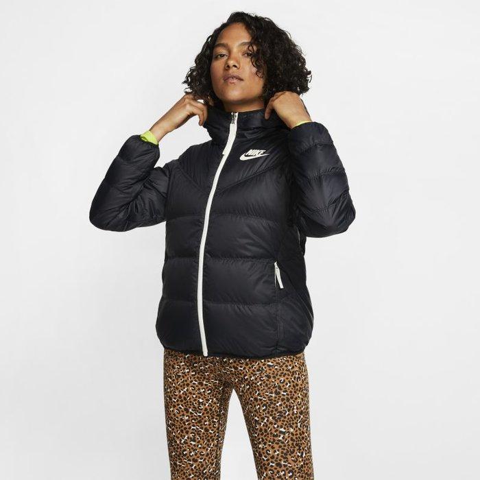 Nike Womens Nike Black NSW Down Fill Reversible Jacket -  Black