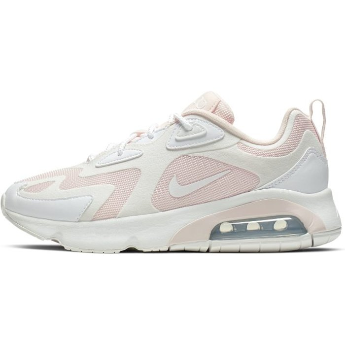 Nike Womens Nike Pink/White Air Max 200 Trainers -  Pink