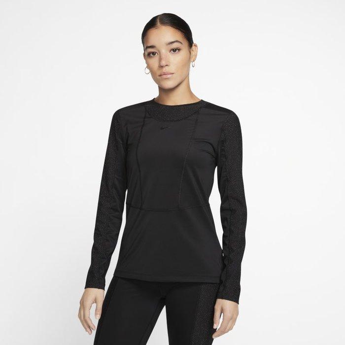 Nike Womens Nike Pro Black Warm Hollywood Long Sleeved Top -  Black