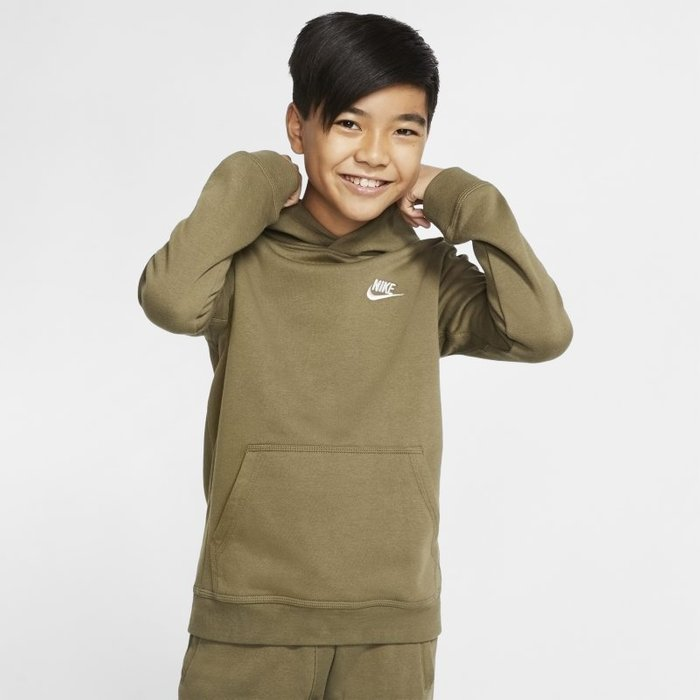 Nike Boys Nike Club Khaki Overhead Hoody -  Brown