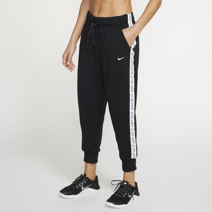Nike Nike Womens Dry Fleece Get Fit 78 EX Pants, BlackWhite, M