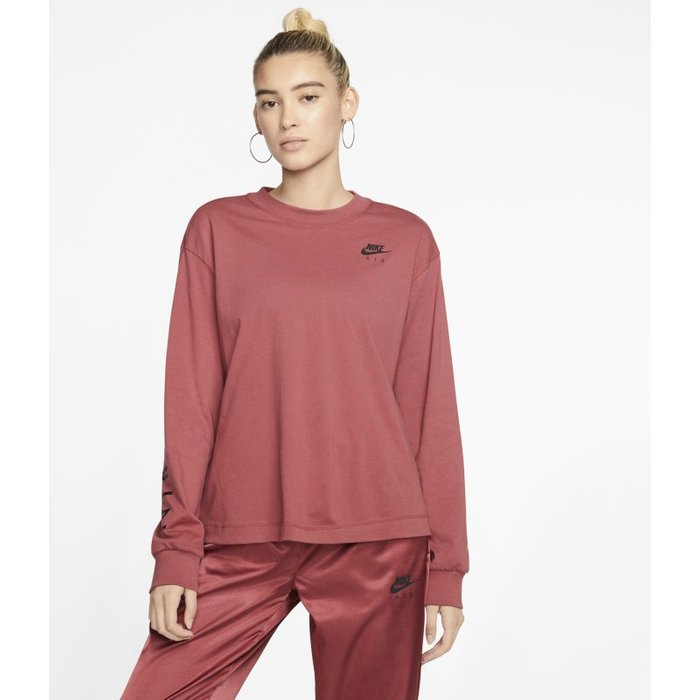 Nike Womens Nike Air Long Sleeve Top -  Red
