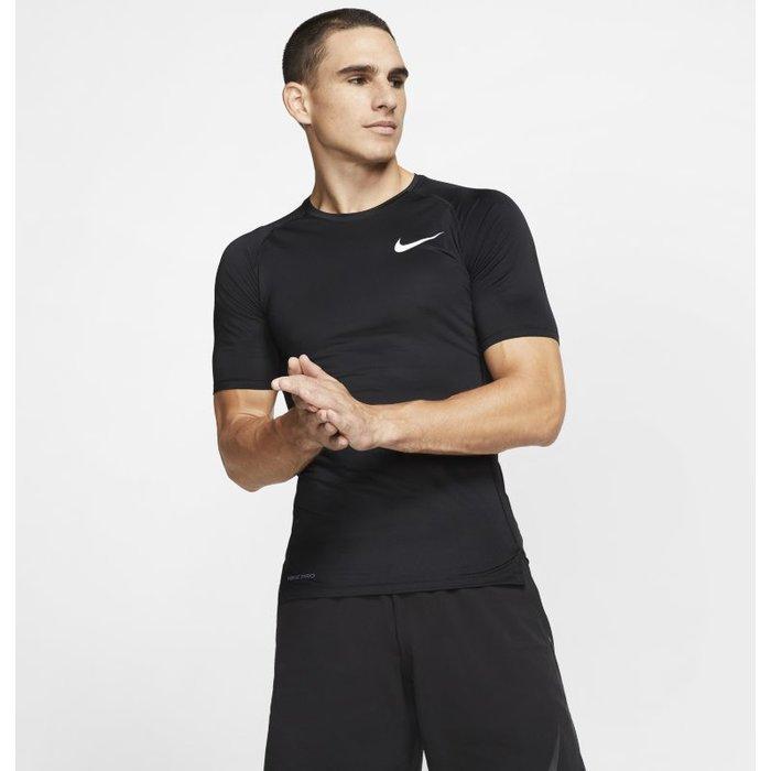 Nike Mens Nike Pro Black Short Sleeved Base Layer Top -  Black