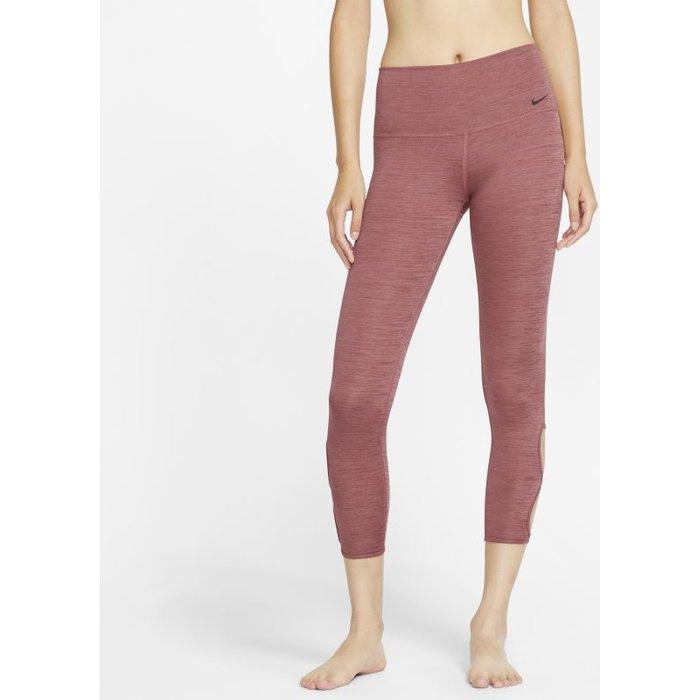Nike Womens Nike Yoga 7/8 Leggings -  Red
