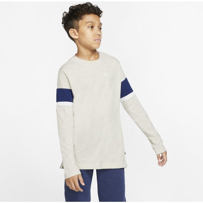Nike Boys Nike Air Long Sleeve T-Shirt -  Natural