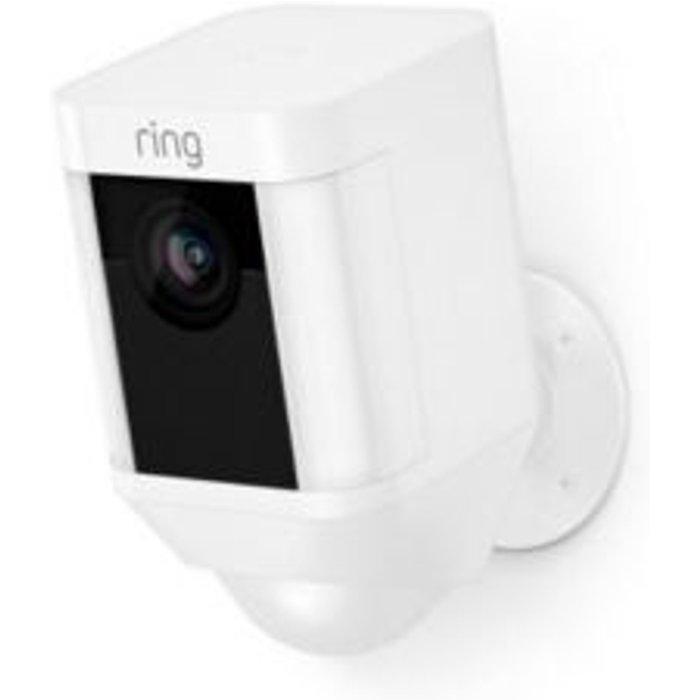 Save £40.00 - Ring Battery Powered White Spotlight camera
