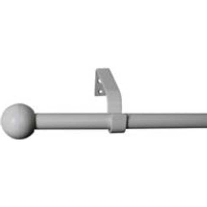 Save 40% - White Fixed Curtain pole Set  (L)1600mm-1600mm  (L)1.64m