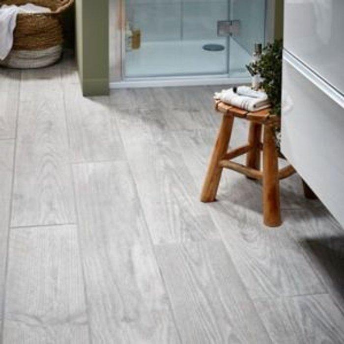 Save 67% - Cotage wood Grey Matt Wood effect Porcelain Wall & floor Tile Sample