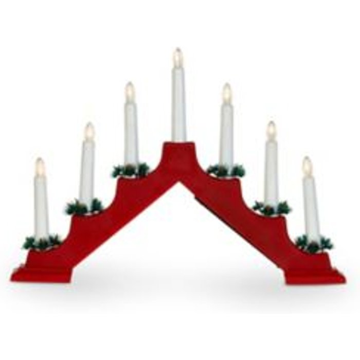 HALF PRICE! Battery operated Static light function Traditional candle arch Silhouette