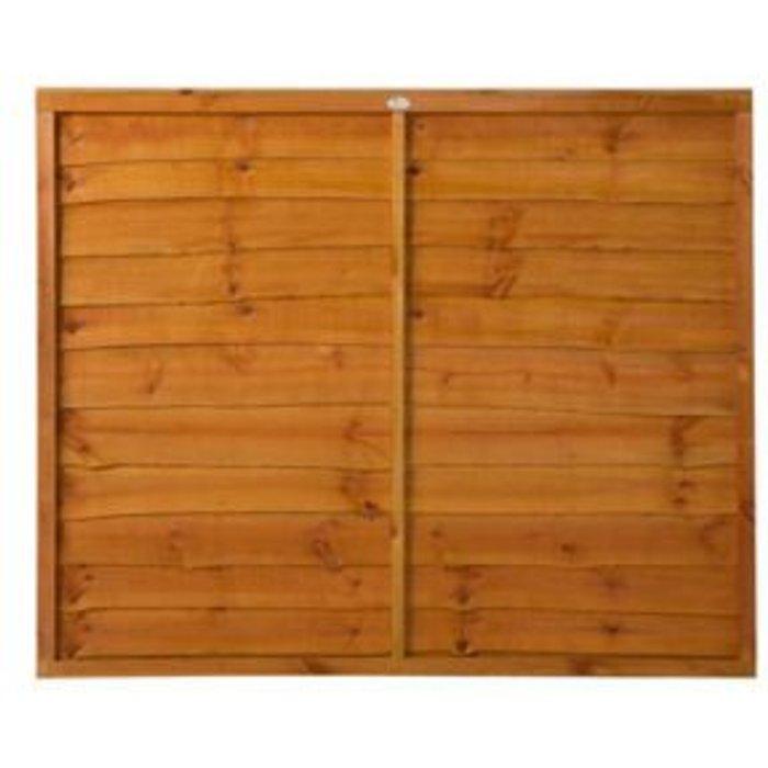 Save £5.49 - Grange Traditional Overlap Horizontal slat Fence panel (W)1.83m (H)1.52m