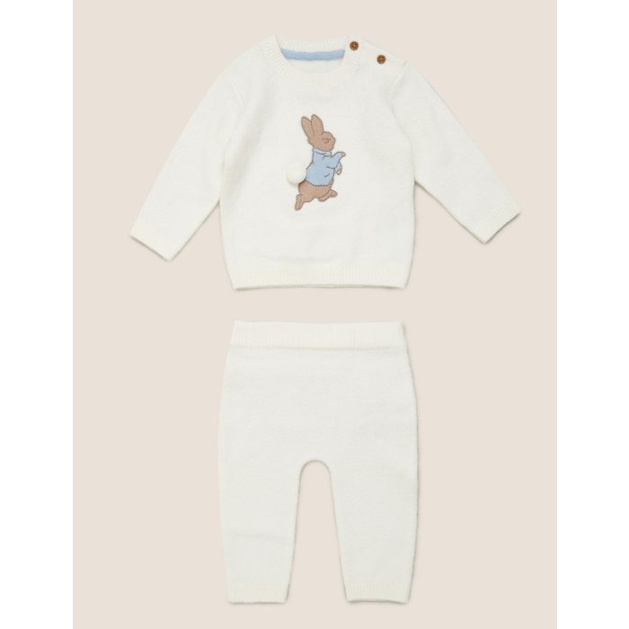 2pc Knitted Peter Rabbit™ Outfit (7lbs - 3 Yrs) cream
