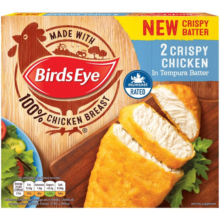 Save 39% - Birds Eye 2 Crispy Chicken in Tempura Batter 170g