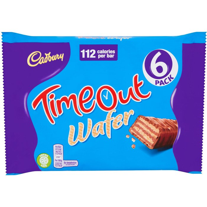 Cadbury Timeout Wafer 6 Pack 127.2g