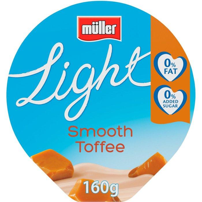 Muller Light Fat Free Toffee Yogurt 160g