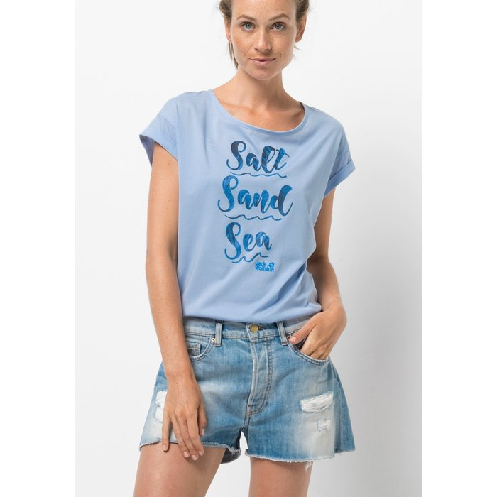 Artikel klicken und genauer betrachten! - Wenn du das SALT SAND SEA T trägst, scheint das Meer auch in Job und Alltag ganz nah. Das sommerliche T-Shirt aus Biobaumwolle und Polyester liegt leicht und angenehm auf der Haut. Übrigens ist der Polyester-Anteil im Shirt komplett recycelt: Dafür kooperieren wir mit SEAQUAL™. | im Online Shop kaufen