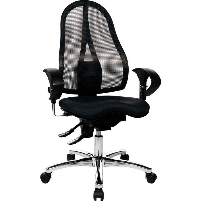 Artikel klicken und genauer betrachten! - Fitness-Drehstuhl mit balancierender Sitzfläche in Netz-Optik. Stufenlose Sitzhöhenverstellung mit Toplift. Konturgeformte Design-Rückenlehne mit atmungsaktivem Netzbezug, in der Höhe verstellbar. US-patentierter Fitness-Orthositz mit Body-Balance-Tec®-Gelenk für dreidimensionale Beweglichkeit der Sitzfläche. Permanentkontakt-Mechanik zur Verstellung der Rückenlehnenneigung, stufenlos arretierbar. | im Online Shop kaufen