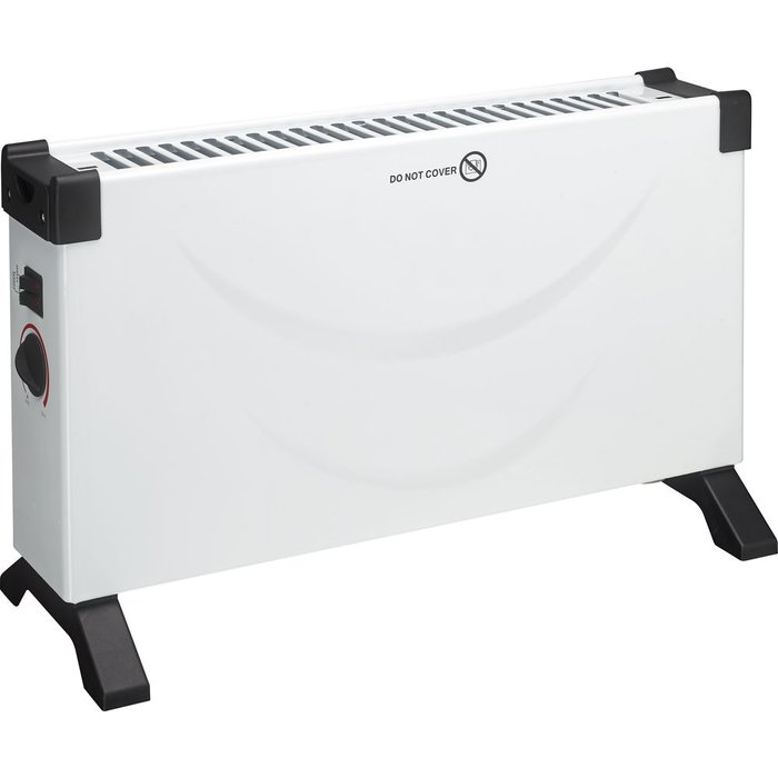 Save 35% - ESSENTIALS C20CHW18 Portable Convector Heater - White & Black, White