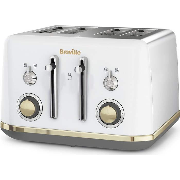 HALF PRICE! Mostra VTT937 4-Slice Toaster - White, White