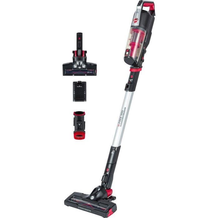 Save 36% - HOOVER H-FREE 500 Home HF522BH Cordless Vacuum Cleaner - Red & Black, Red