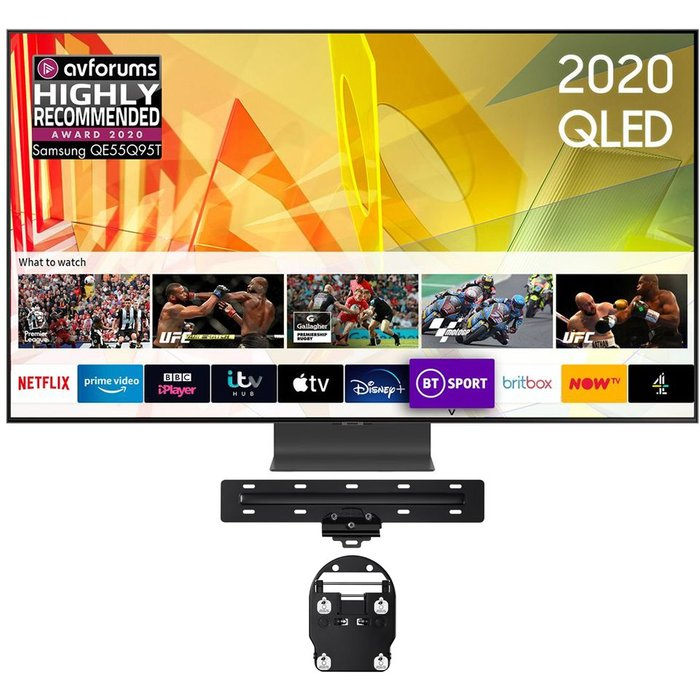"""55"""" SAMSUNG QE55Q95TATXXU  Smart 4K Ultra HD HDR QLED TV & WMN-M15EA/XU Tilt 43-65"""" TV Bracket Bundle"""