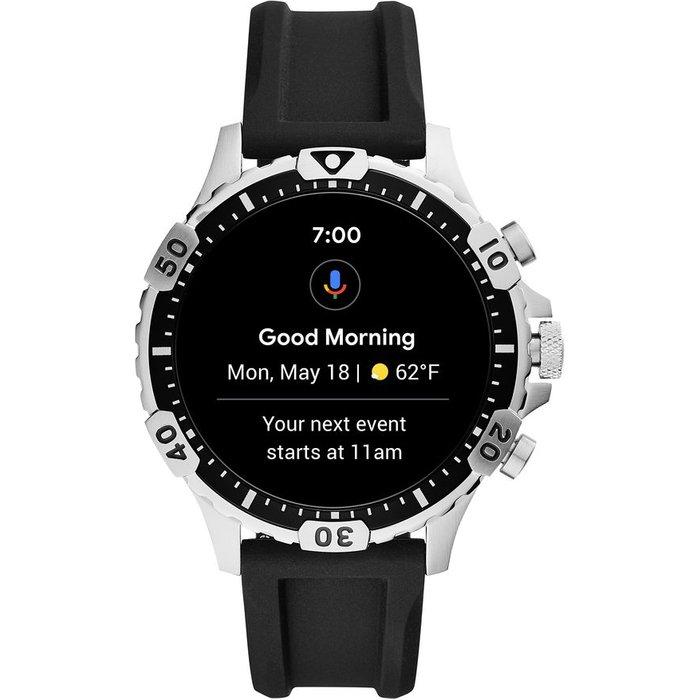 Save £50.00 - FOSSIL Garrett HR FTW4041 Smartwatch - Black, Silicone, 46 mm, Black