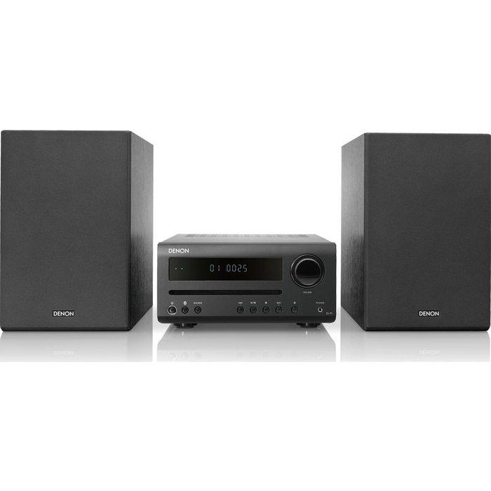Save £30.00 - DENON DT-1 Bluetooth Traditional Hi-Fi System - Black, Black