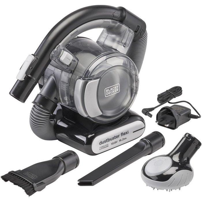 Save 39% - BLACK  DECKER Dustbuster Flexi PD1020LP-GB Handheld Vacuum Cleaner - Black & Chrome, Black