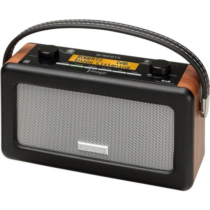 Save £30.00 - ROBERTS Vintage Portable DAB Radio - Black, Black