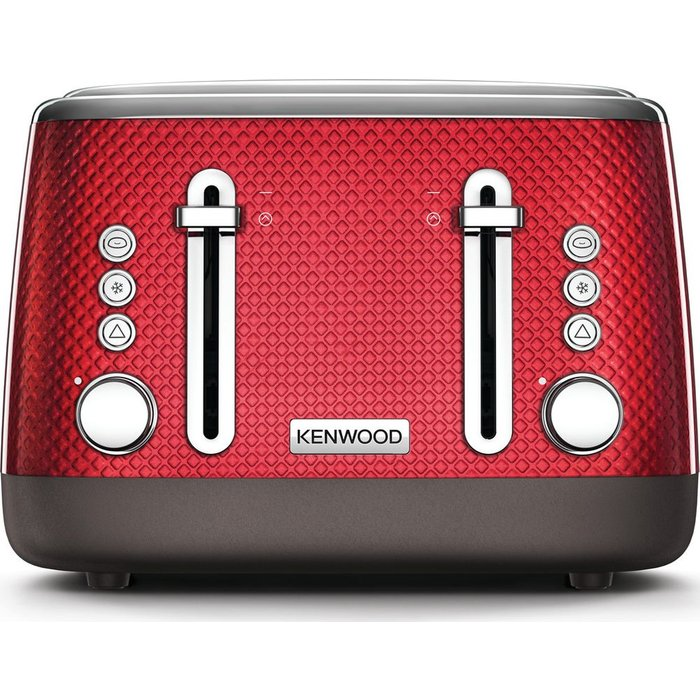 Save 30% - Mesmerine TFM810RD 4-Slice Toaster - Deep Red, Red