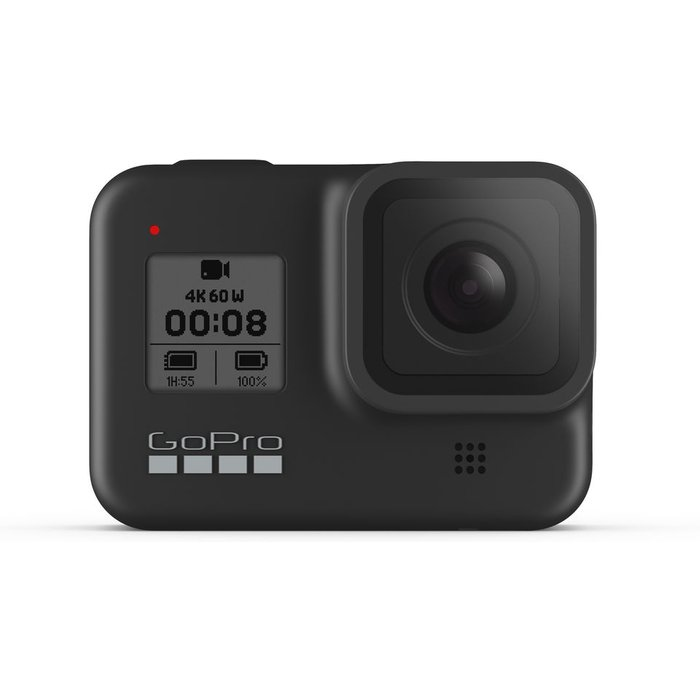 GoPro GoPro HERO8 Black - Waterproof 4K Digital Action Camera with Hypersmooth Stabilisation, Touch Screen and Voice Control - Live HD Streaming