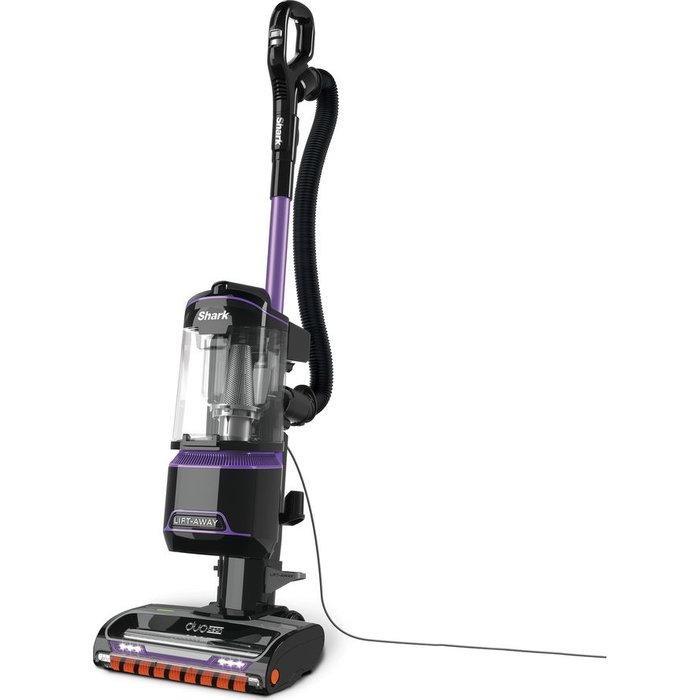Save £50.00 - Shark DuoClean Lift-Away NV702UK Upright Bagless Vacuum Cleaner - Grey & Purple, Grey