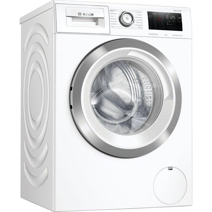 Save £40.00 - BOSCH Serie 6 WAU28R90GB 9 kg 1400 Spin Washing Machine - White, White