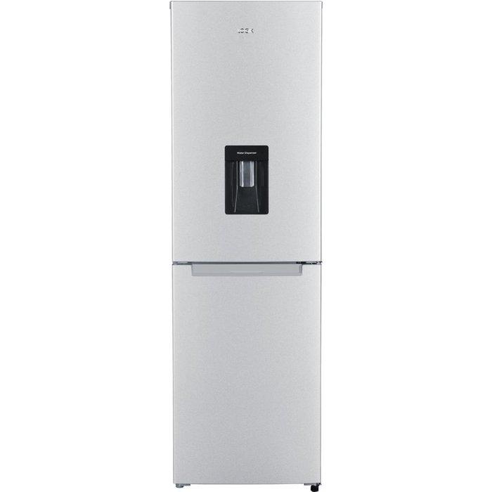 Save £80.00 - LOGIK LFFD55S18 50/50 Fridge Freezer - Silver, Silver