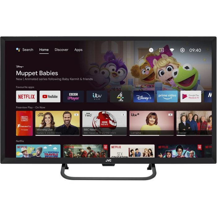 "Save £50.00 - 32"" JVC LT-32CA690 Android TV  Smart HD Ready LED TV with Google Assistant"