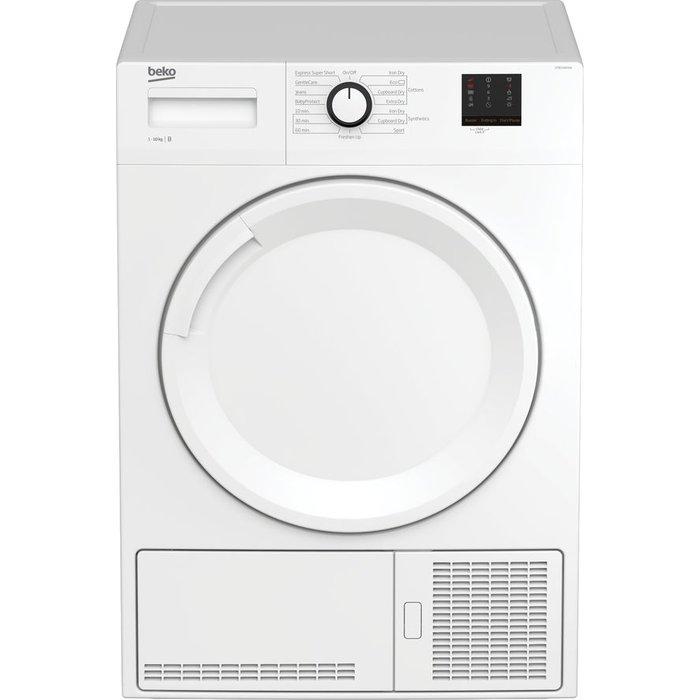 Save £10.00 - Beko Tumble Dryer DTBC1001W 10 kg Condenser  - White, White