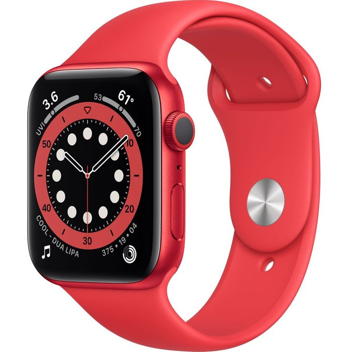 Save £40.00 - APPLE Watch Series 6 - PRODUCT(RED) Aluminium with PRODUCT(RED) Sports Band, 44 mm, Red